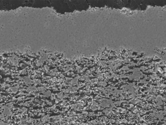 Axial III SOFC electrolyte on porous anode